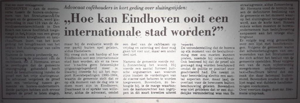 1991-02-15 hoe kan Eindhoven ooit een internationale stad worden