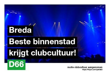D66 Breda sluitingstijden