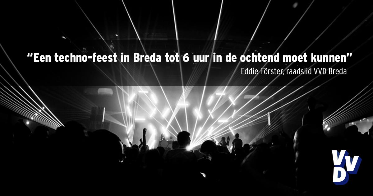 VVD Breda sluitingstijden verruiming
