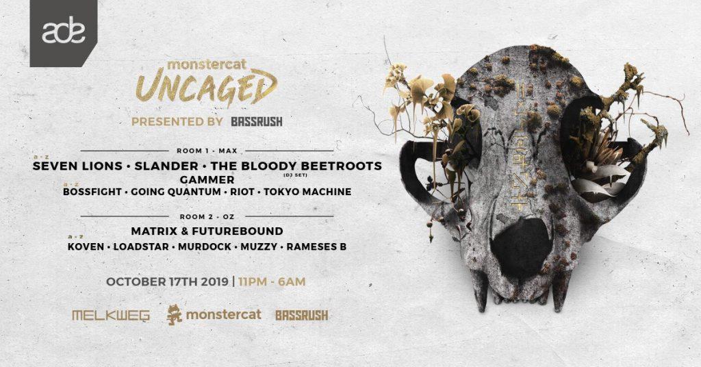 Monstercat Uncaged ADE 2019 Banner