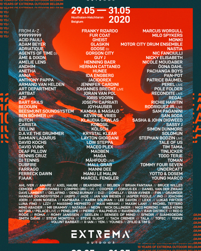 Extrema Outdoor Belgium 2020 line-up